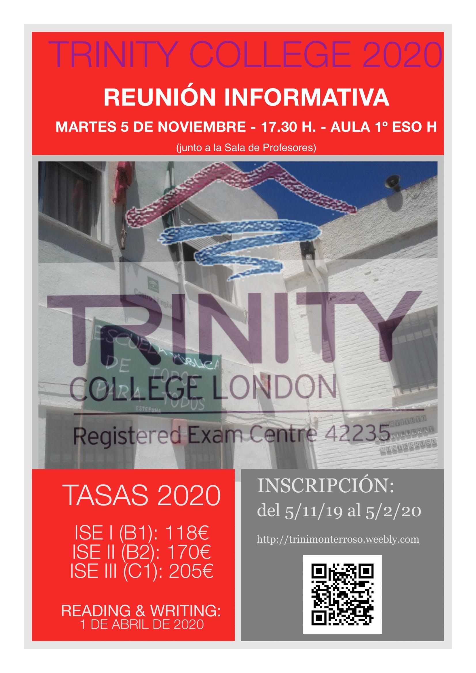 Imagen de la noticia: Exámenes de Trinity College 2020. Reunión informativa [Actualizado]