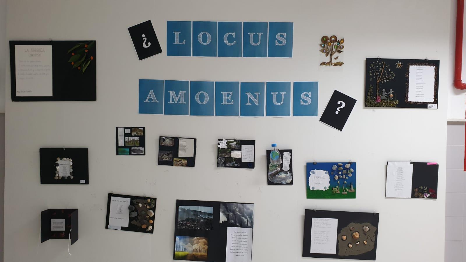 Imagen de la noticia: Exposición Locus amoenus en el hall del IES Monterroso