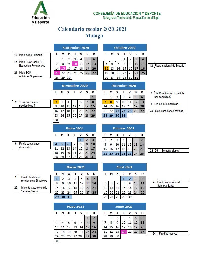 Imagen de la noticia: Calendario escolar del curso 2020/2021 [Actualizado]
