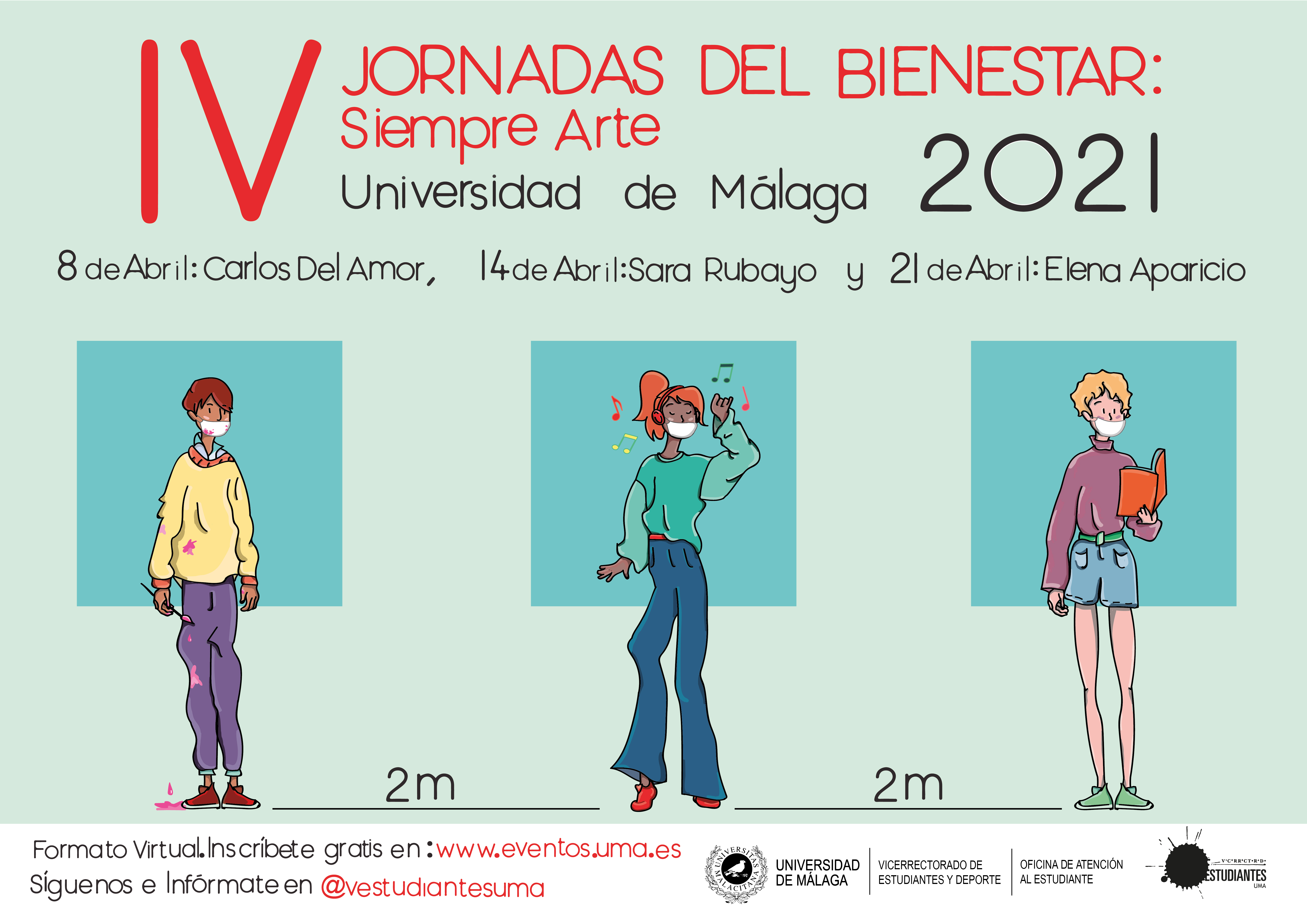 Imagen de la noticia: 8 de abril: IV Jornadas del Bienestar: Siempre Arte (formación abierta de la Universidad de Málaga) [Actualizado]
