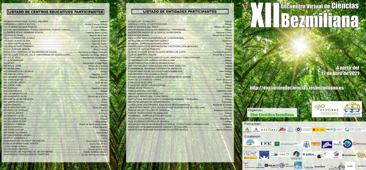 Imagen de la noticia: XII Encuentro Virtual de Ciencias Bezmiliana [Actualizado]