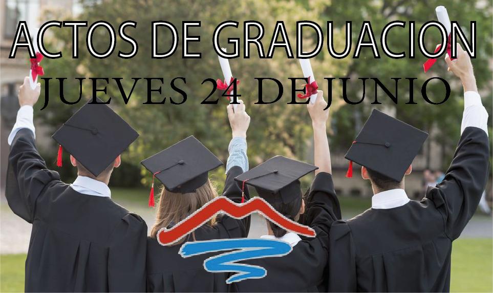 Imagen de la noticia: Actos de Graduación (jueves 24 de junio de 2021) [Actualizado]